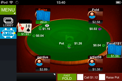 Next! poker for iphone/ipad