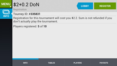 mobile poker tournaments