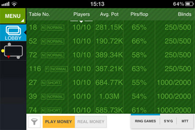 online poker for iphone/ipad