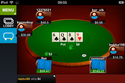 poker on iphone/ipad